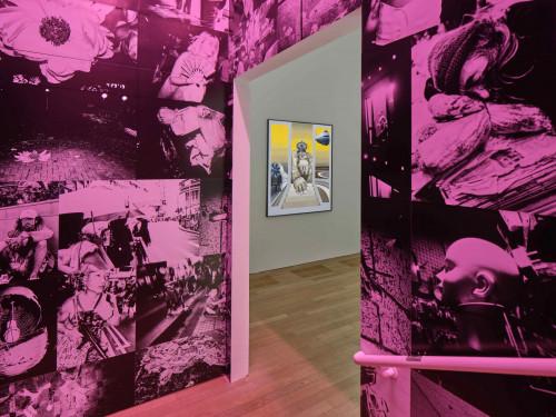 展覽場景:陳偉江及Bettina Von Arnim,於「幽靈維面—電馭叛客在未來之年」。