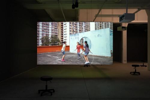 《跳繩》,兒童遊戲之二十二,香港九龍牛頭角,2020年