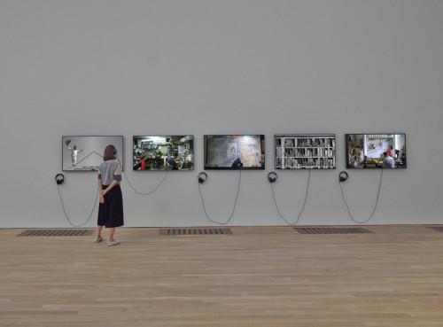 展覽場景:全昭侹,「言語不通」。