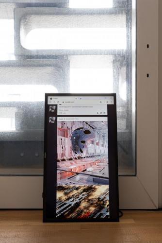 展覽場景:周邊文化參考,於「幽靈維面—電馭叛客在未來之年」。