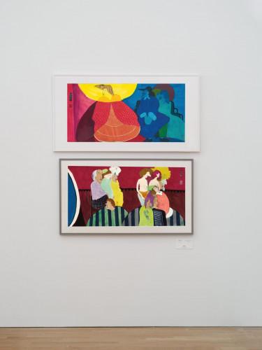 由上至下:陳福善,《無題(傾慕者)》,1981。《無題 (印度行列)》,1981。